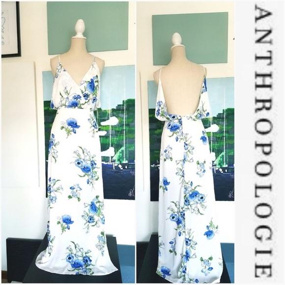Lush Dresses & Skirts - Lush white and floral blue dress